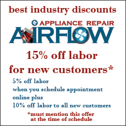 new customer appliance repair labor discount